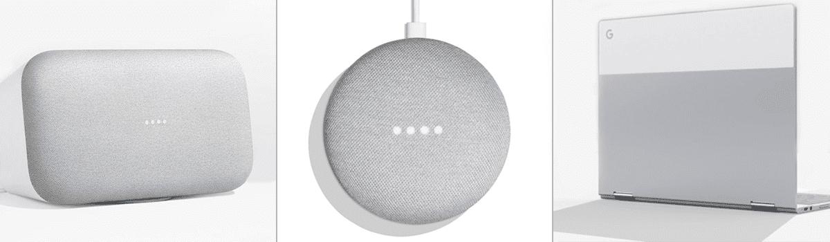 Google Home Max, Google Home Mini & Google Pixelbook