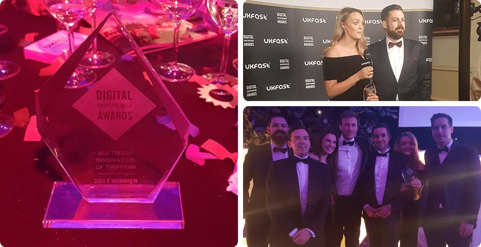Digital Entrepreneur Awards 2017 Software Innovation of the Year Sonin App Agency